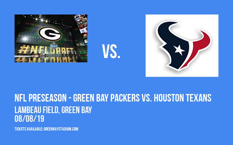 PARKING: NFL Preseason - Green Bay Packers vs. Houston Texans at Lambeau Field