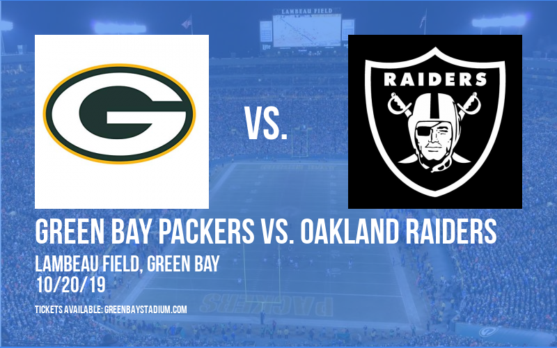 PARKING: Green Bay Packers vs. Oakland Raiders at Lambeau Field
