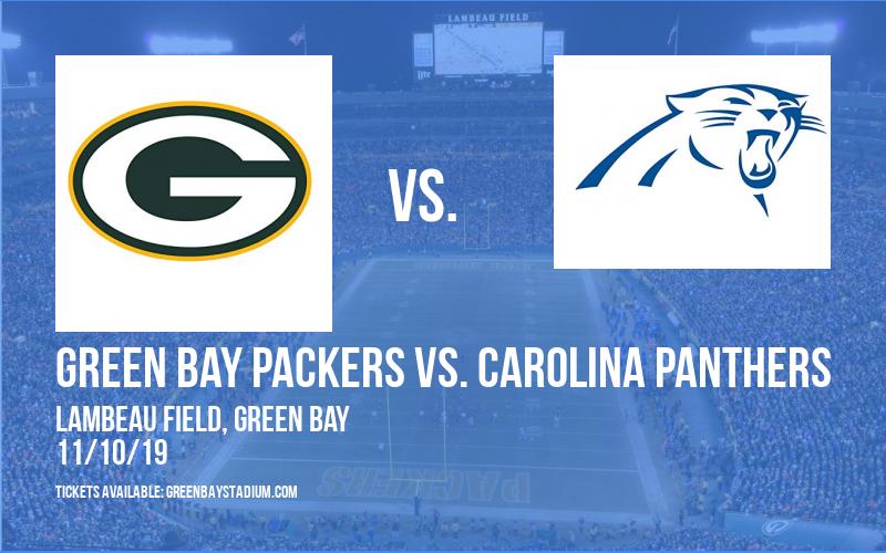 PARKING: Green Bay Packers vs. Carolina Panthers at Lambeau Field